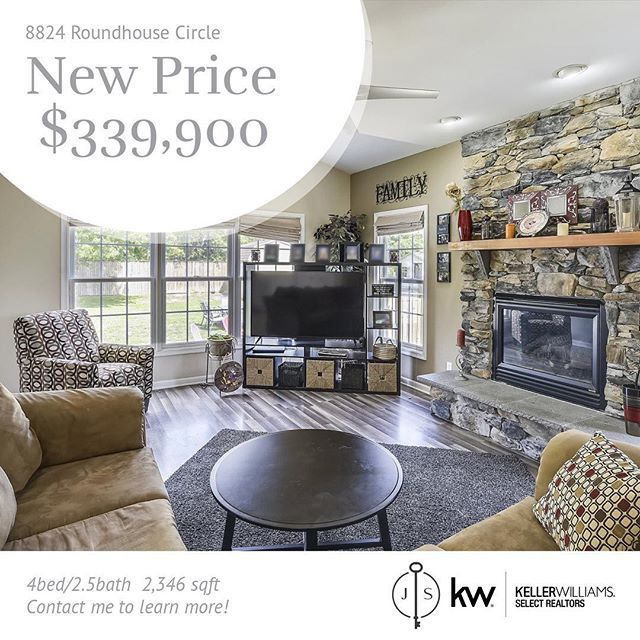 The looking stops here....8824 Roundhouse Circle.  Price adjustment.