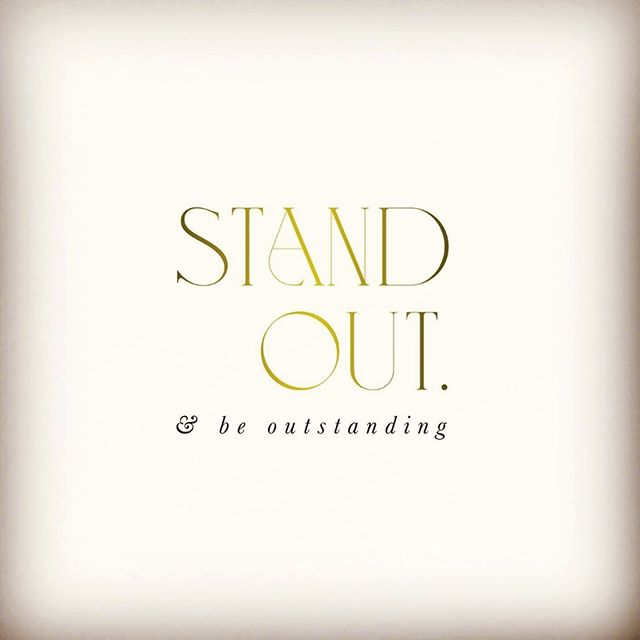 Stand out...and be outstanding.  #juliestevensonrealestate #shorelivingbydesign