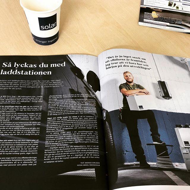 Godmorgon Sverige! Missa inte senaste nummer av solarmagasin där vi medverkar i en artikel om elbilsladdare.  #rdelteknik #solarsverige @solarsverigeab #solarmagasin #laddaelbilen #evcharging #garo #elinstallation #elbil #electriccar