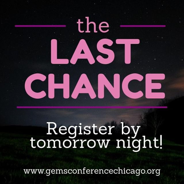 🚨REGISTRATION CLOSES TOMORROW NIGHT!! Friends don't let friends miss out on a great time! We only have a few 💺 left! Check out our amazing raffles! Must be present to win! #chitown #chicagoyouth #girlpower #WednesdayThoughts #GEMS #mentoring