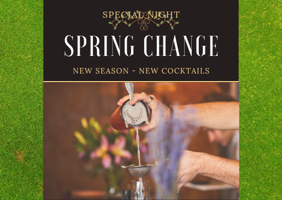 12.04.2019 - 5PM - MIDNIGHTVISIT TABAC BARS SPRING GARDENTO TRY OUR CLASSICS & SEASONS SPECIALSTICKET: FREE