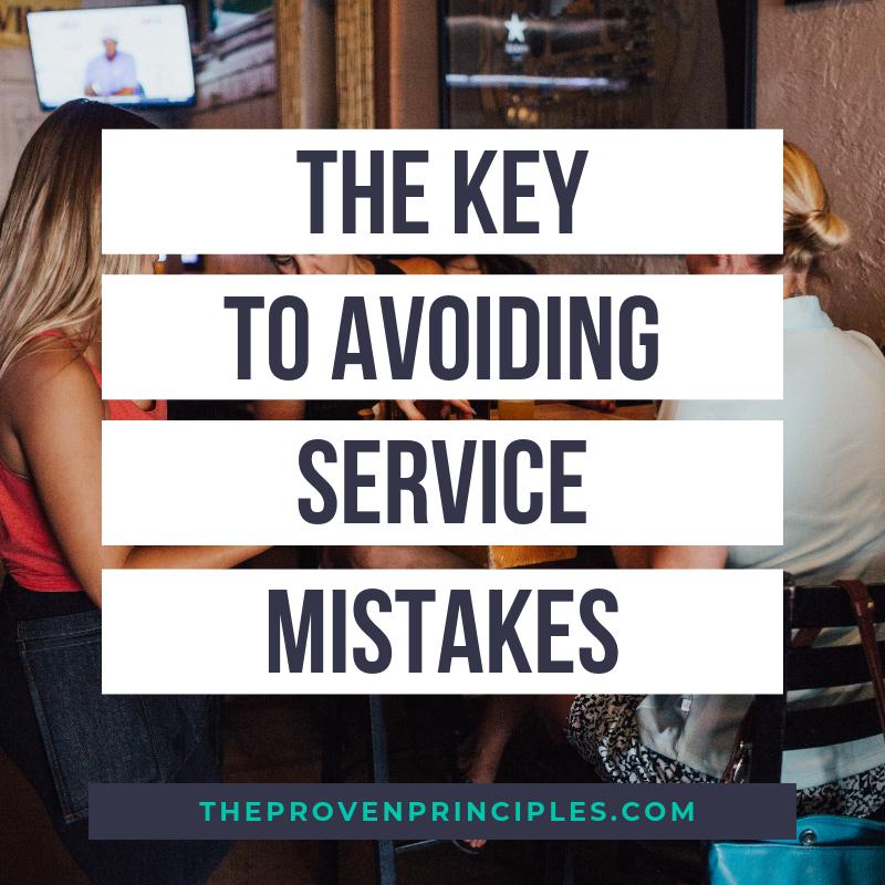 avoid service mistakes