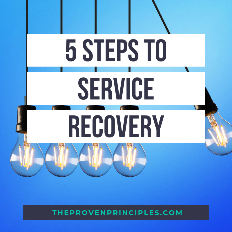 how to recover from customer problem