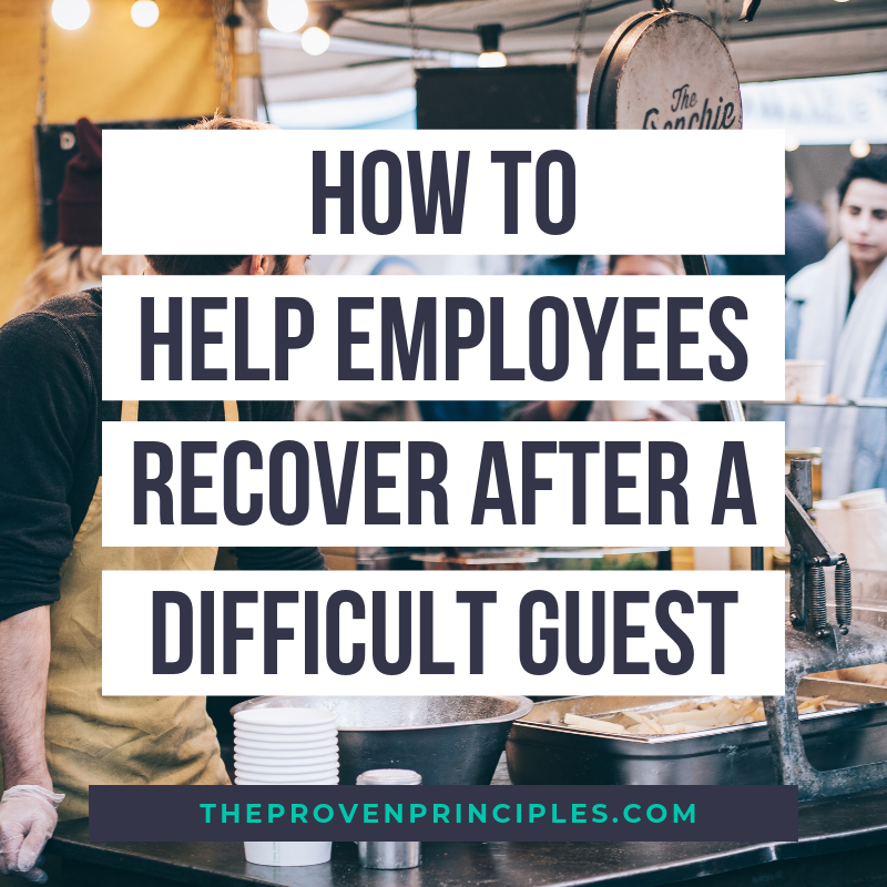 recover from difficult customer