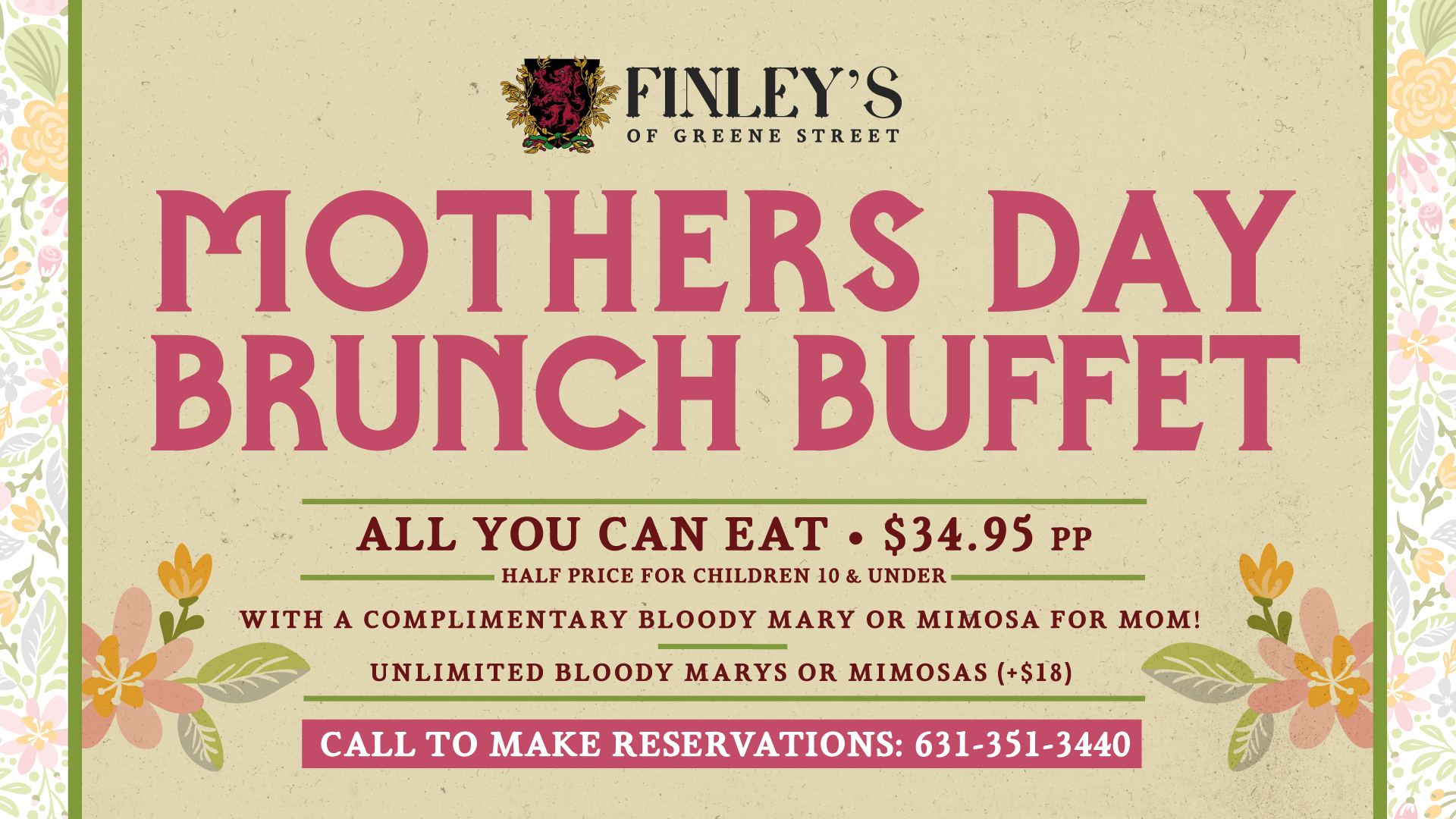 Mother's Day Brunch Buffet Flyer
