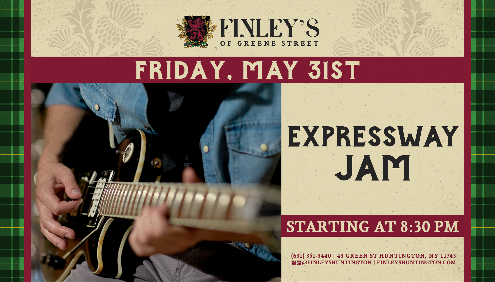 Flyer for live music with Expressway Jam