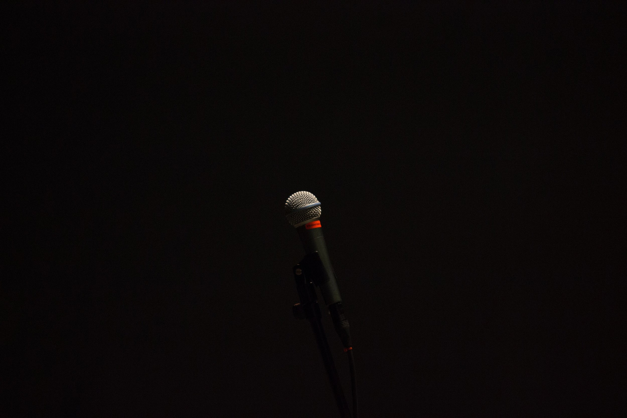 A photo of a microphone.