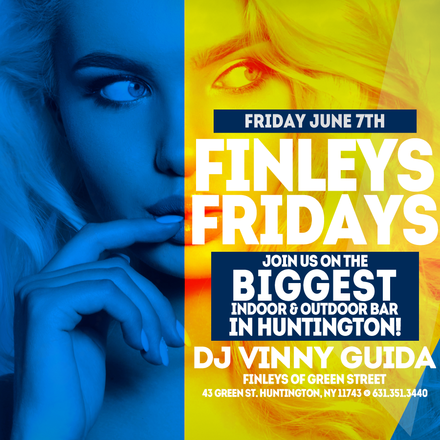 Flyer for Finley's Fridays with DJ Vinny Guida on June 7th