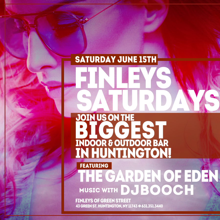 Flyer for Finley's Saturday with DJ Booch