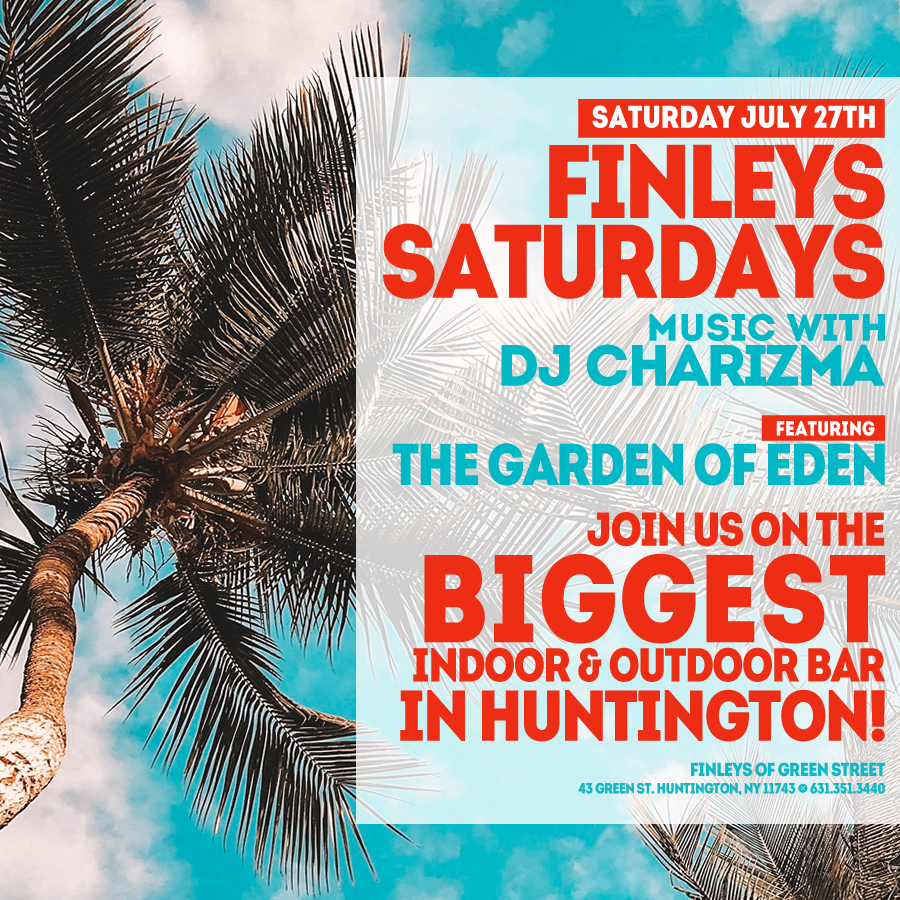 Flyer for Finley's Saturdays with DJ Charizma