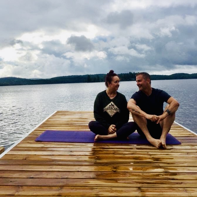 a light hearted partner yoga session cultivating camaraderie, connection, trust and awareness. all ages. completely beginner friendly and fun. - 2PM-3:15PM Partner Yoga with Janice and Jeff