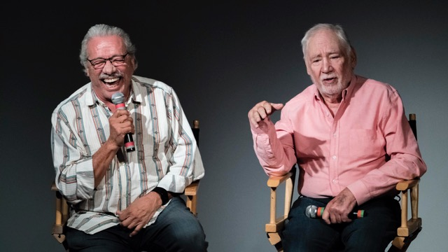 Actor Edward James Olmos and director Robert M. Young