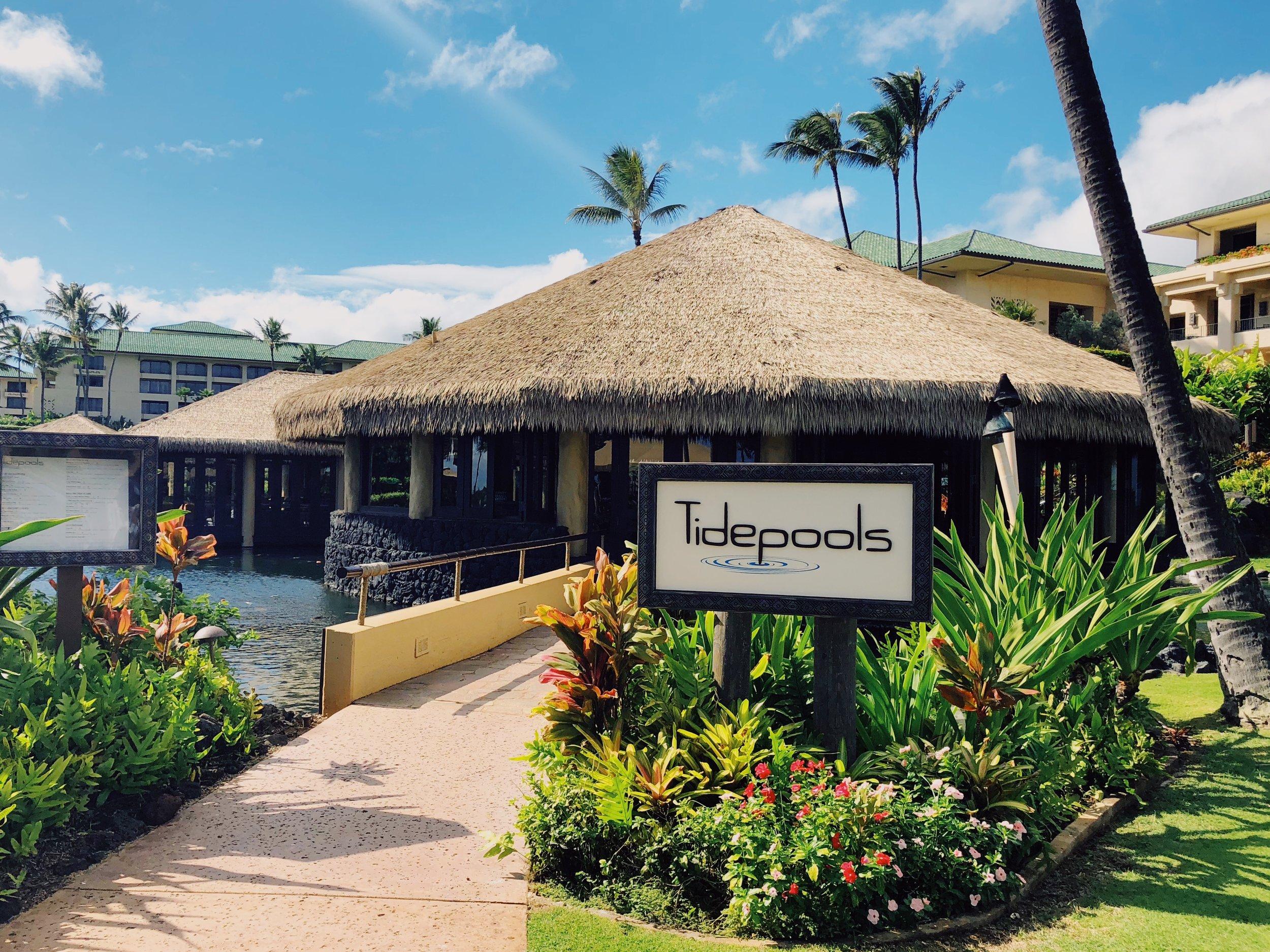 tidepools restaurant at grand hyatt kauai review