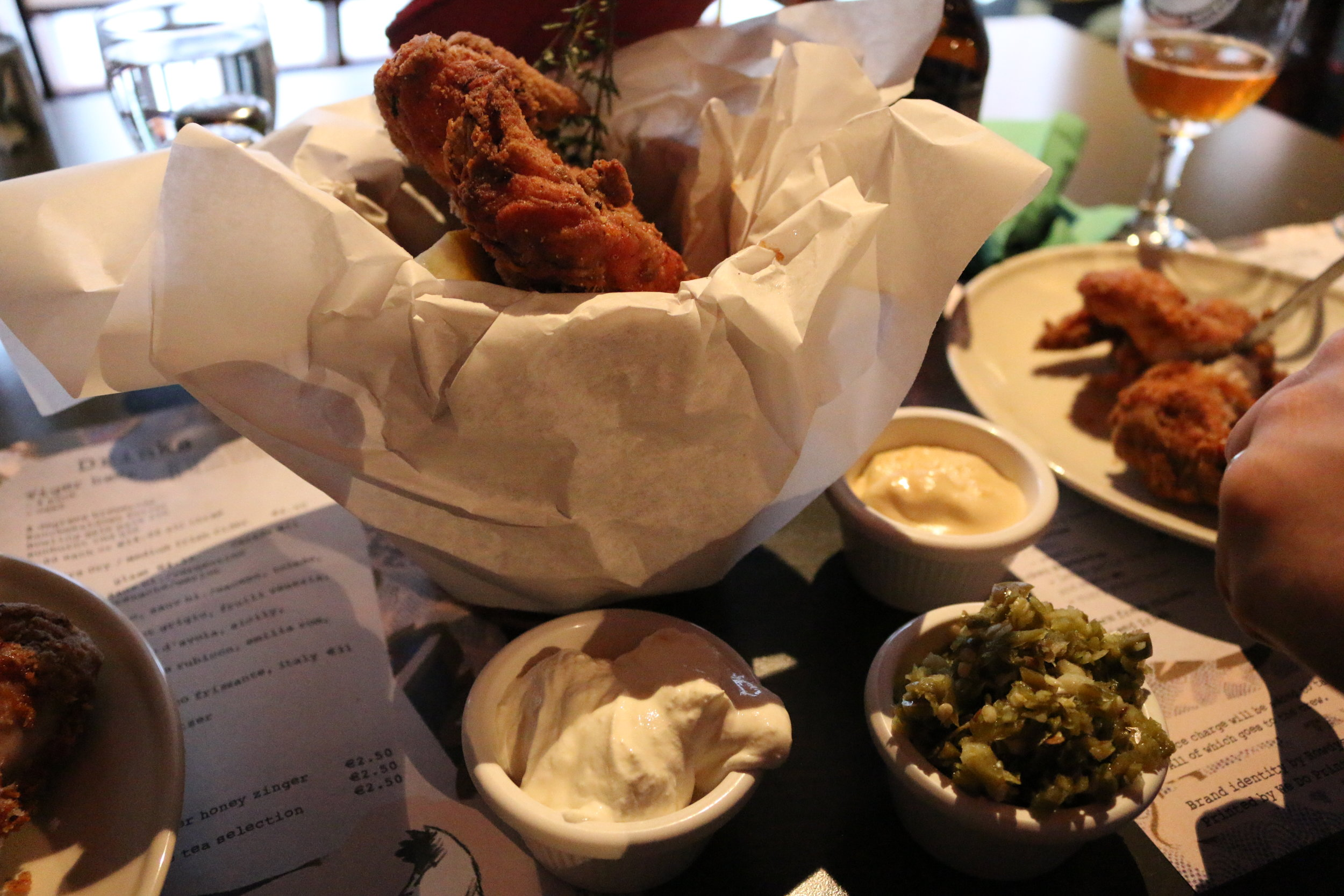 It's hard to take an award-winning photo of a piece of fried chicken, but what matters is that it tastes good, right? ;)