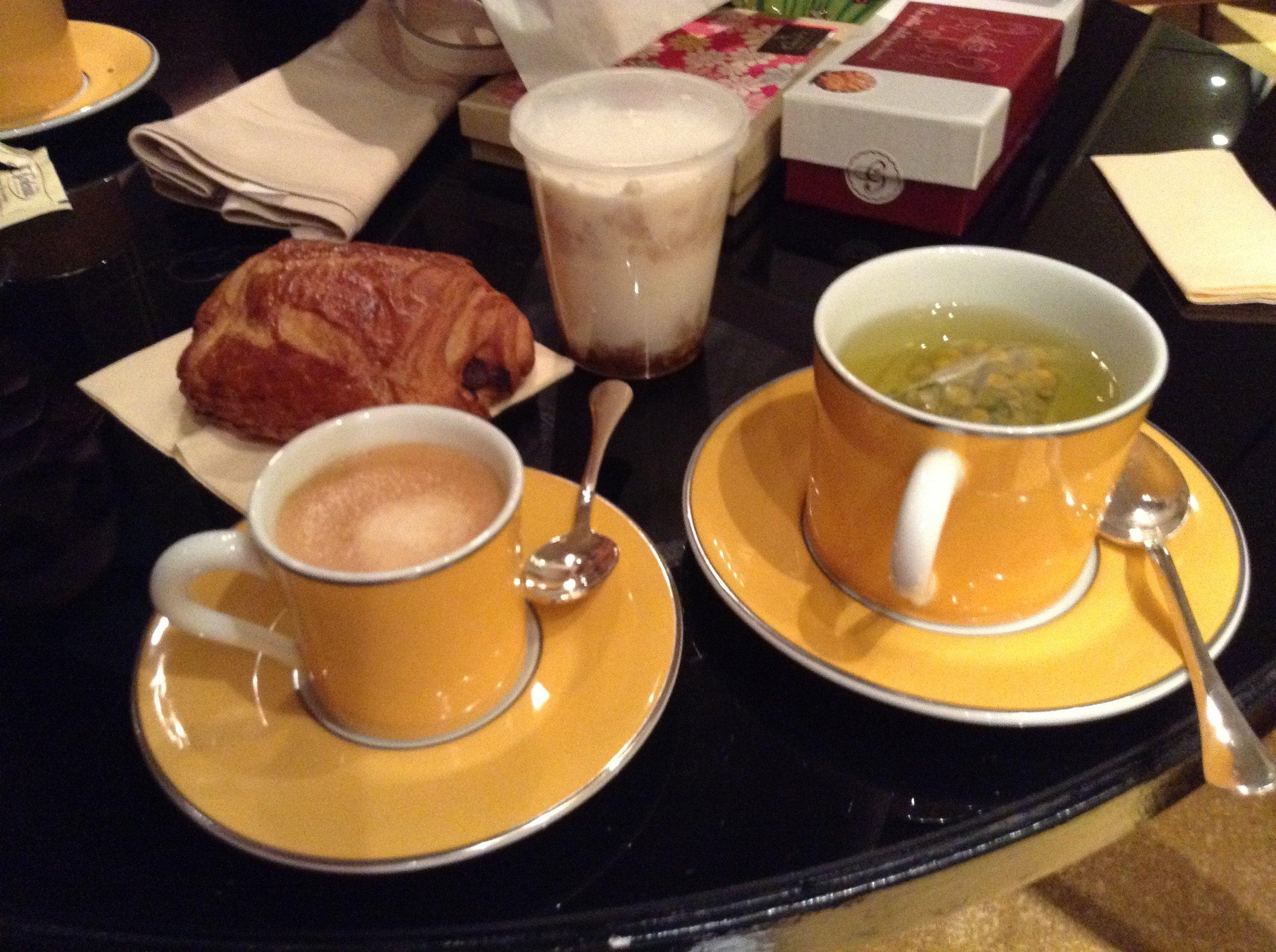 Nespresso and tea in our room (2013) | Park Hyatt Paris | Travelhappy Luxury Hotel Review