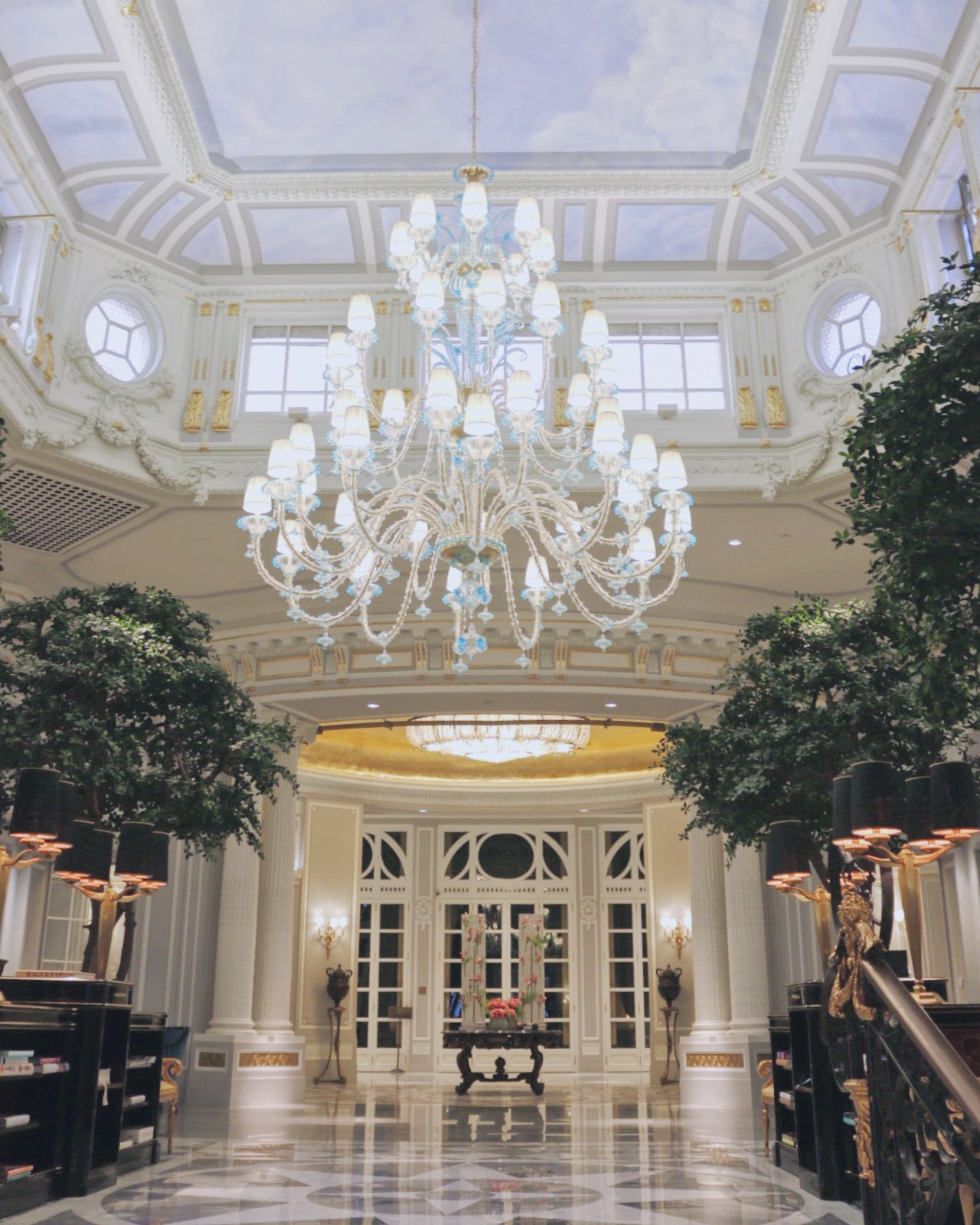 Newly renovated lobby of the St. Regis Rome.