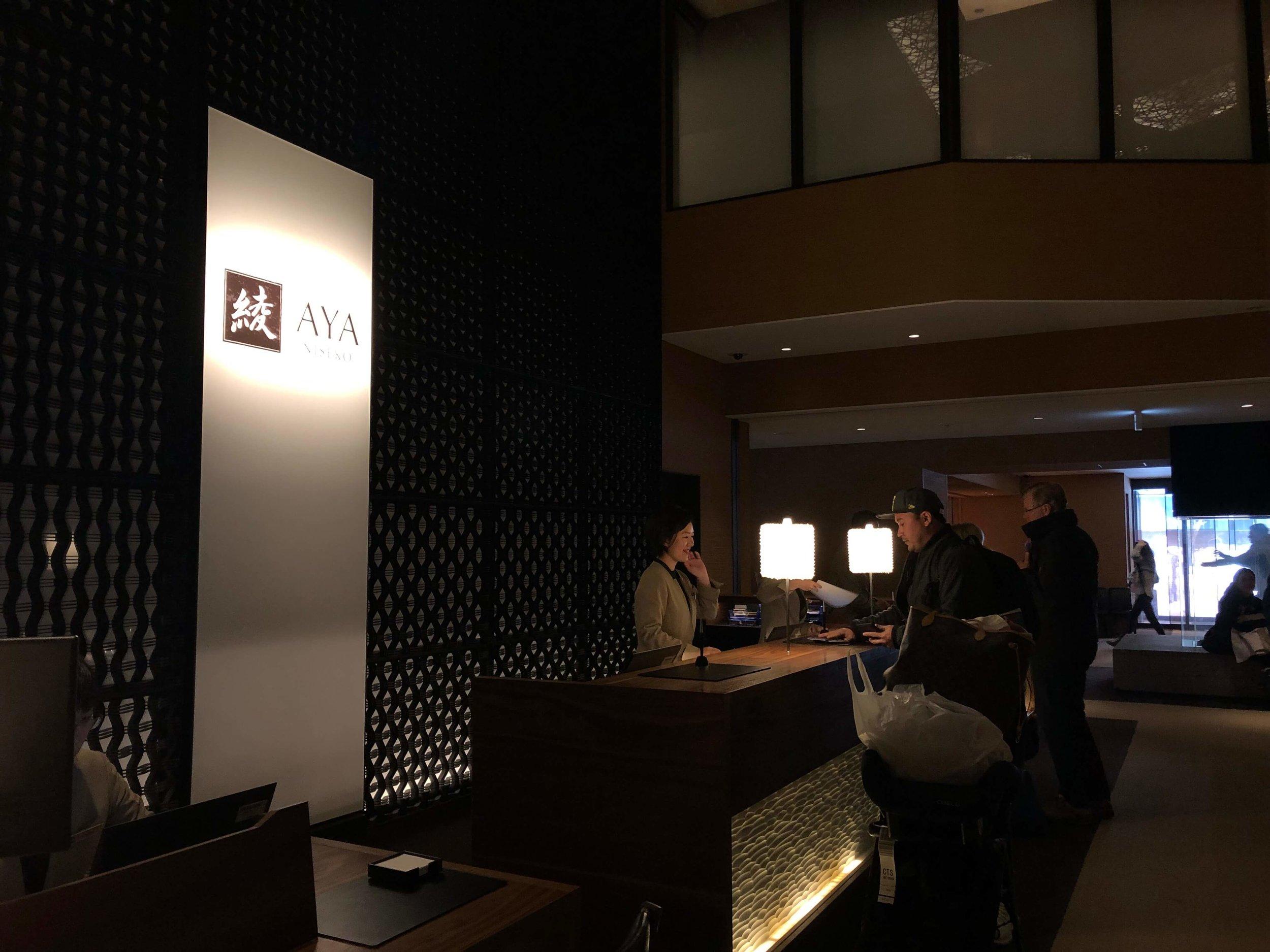 Front desk at AYA Niseko