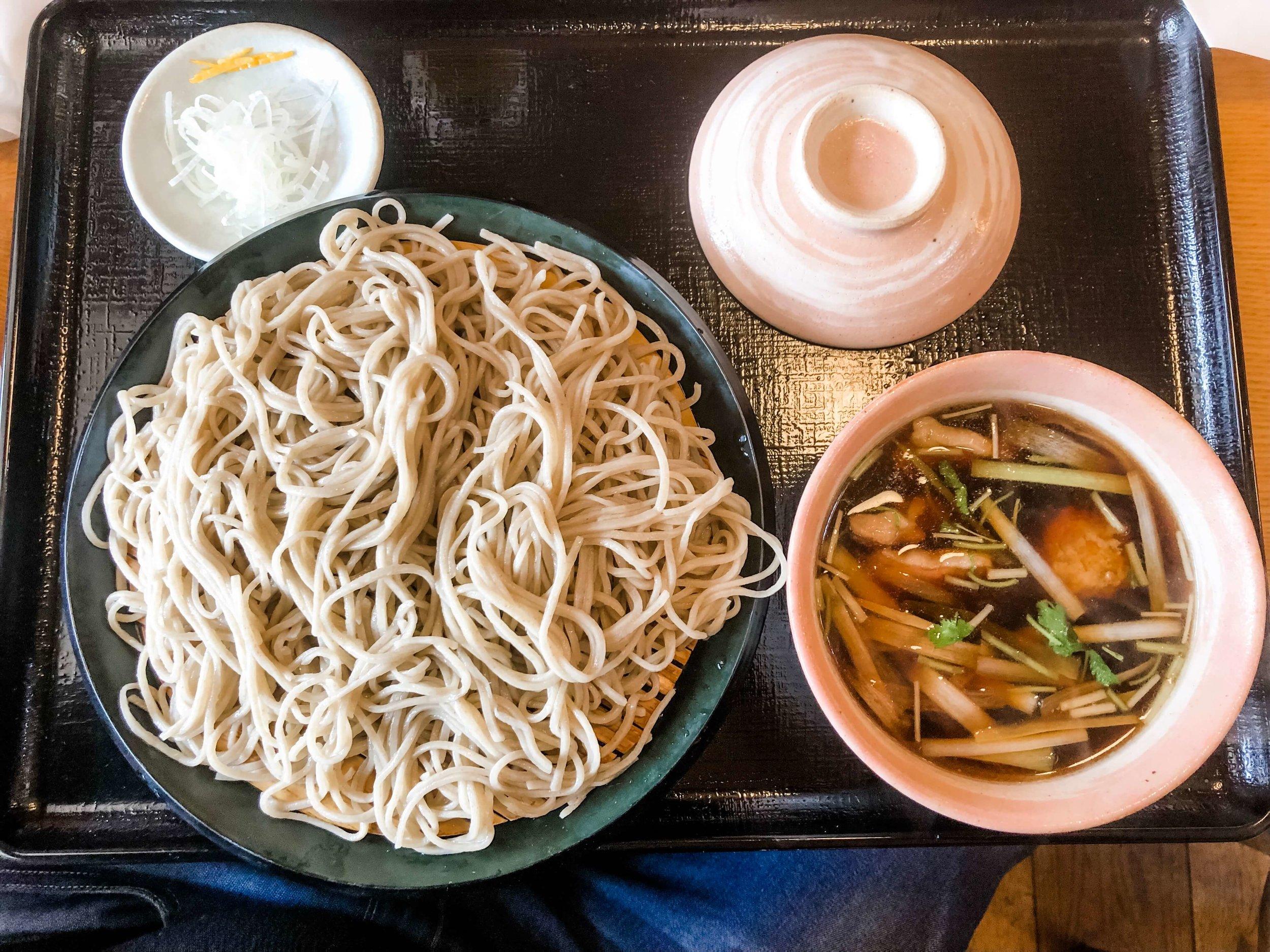 Best places to eat in Niseko Japan - soba kaiseki ichimura