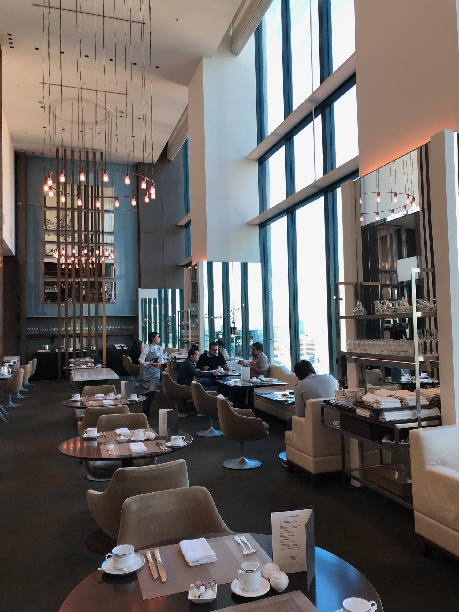 Conrad Tokyo - luxury hotel review - family travel - Cerise restaurant