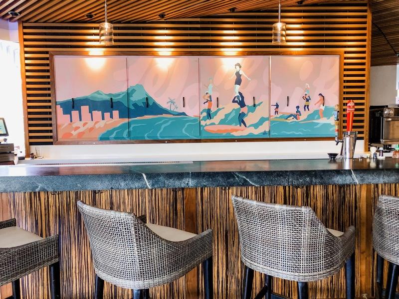 Review of Hyatt Centric Waikiki - new family-friendly hotel - bar