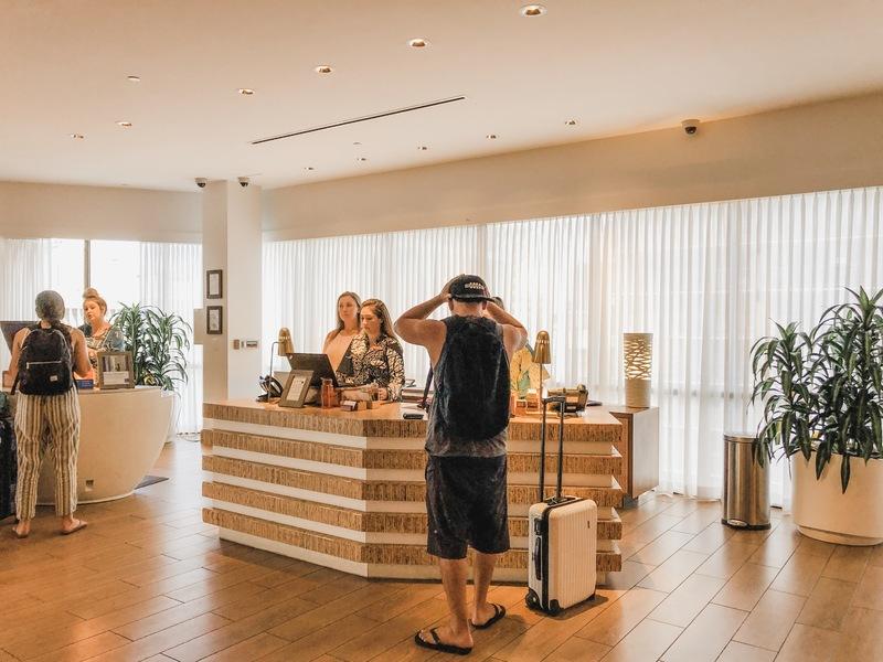 7th floor reception and lobby area