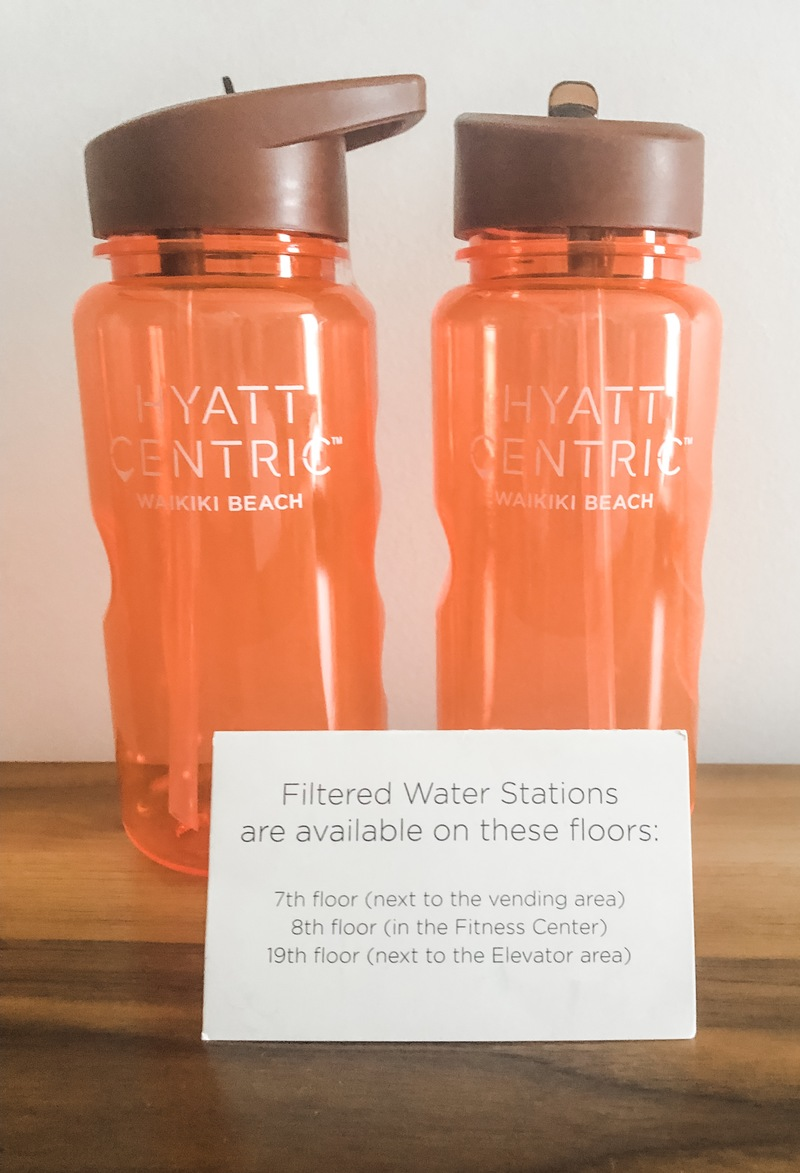 Refillable water bottles (included in the nightly resort charge)