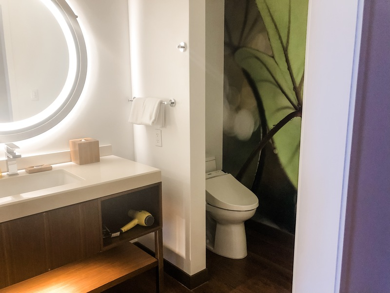 Toto toilet in an almost-water-closet