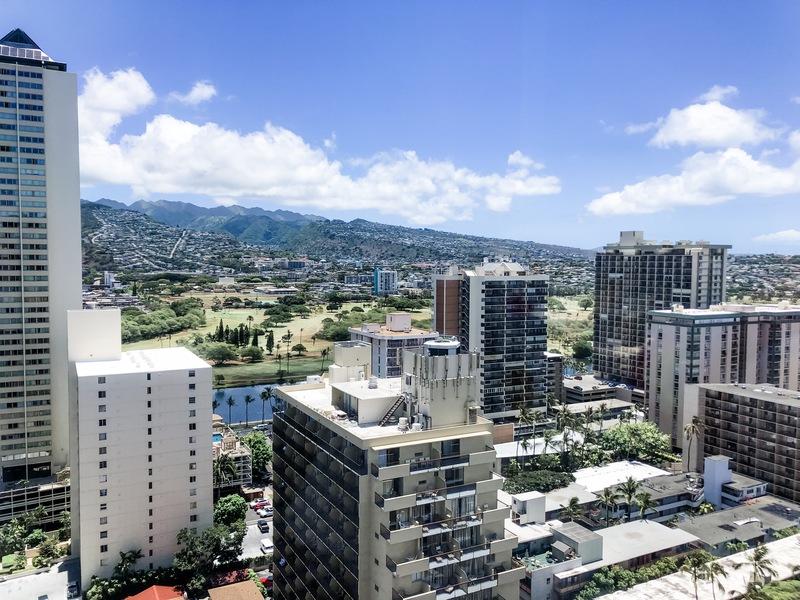 Our mountain/Ala Wai view