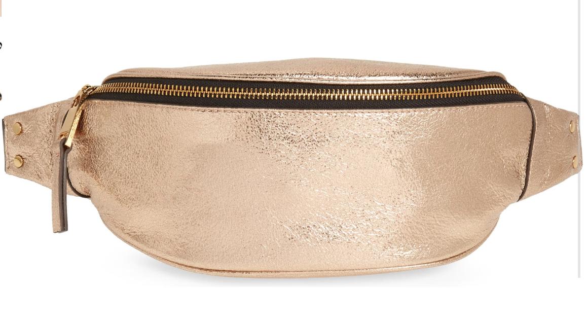 Mason Metallic Leather Belt Bag from Treasure and Bond