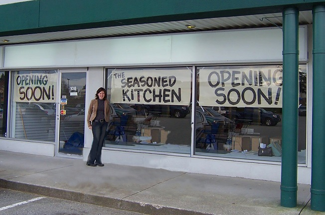The storefront before opening in 2006!