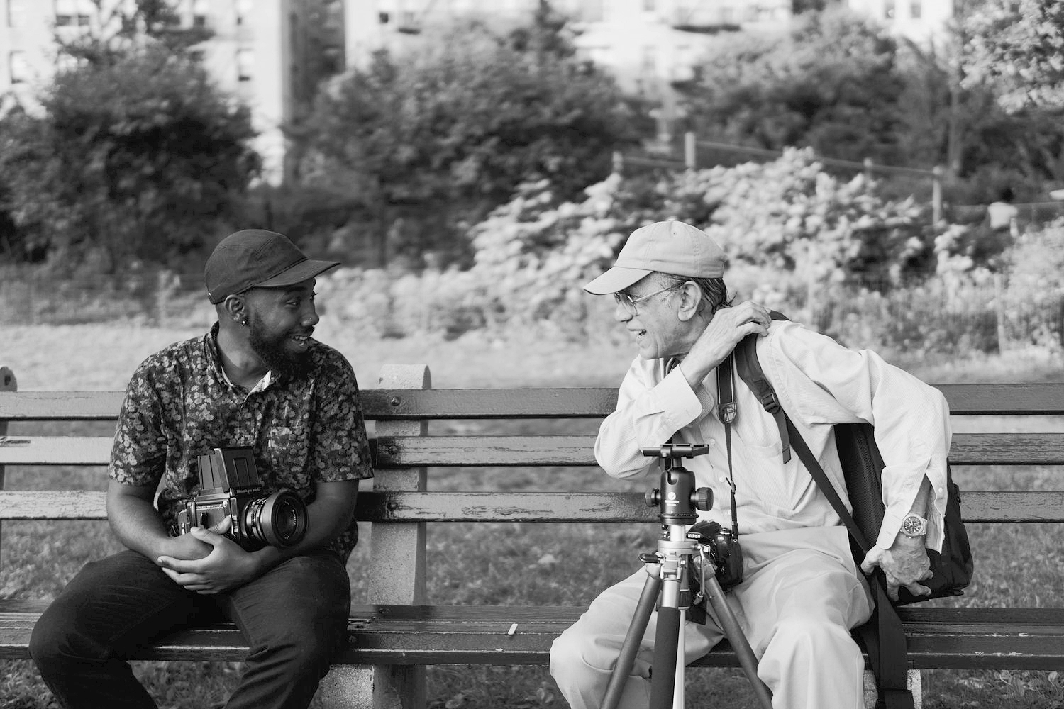 """""""Wow thats a really old school camera, I haven't seen one of those in YEARS""""  - Gary    (Interactions with strangers while visiting New York for the first time)    Photographed by    Kenny Reprado"""