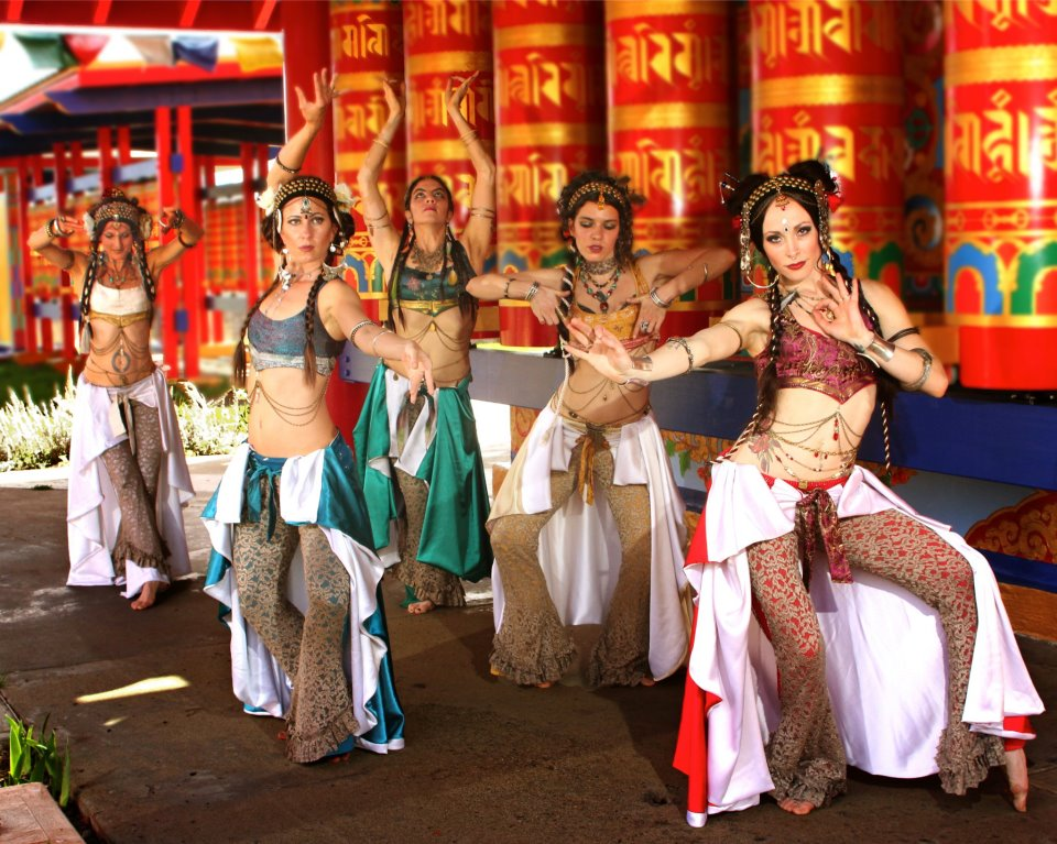 "Vajrasa presents ""Panchandala"" (Left to Right: Tenley Wallace, Jumana Sophia, Ruth Rhiannon, Tera Ptecak, and Monique Trinity Rose)"