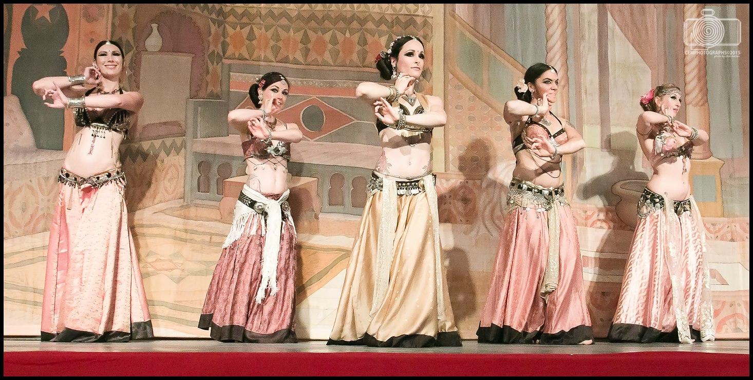 Dakini Rose Devadasi at Tribal Fest (Left to Right: Tracy WIndisch, Halo Seronko, Monique Trinity Rose, Ruth Rhiannon, and Sedona Soulfire)