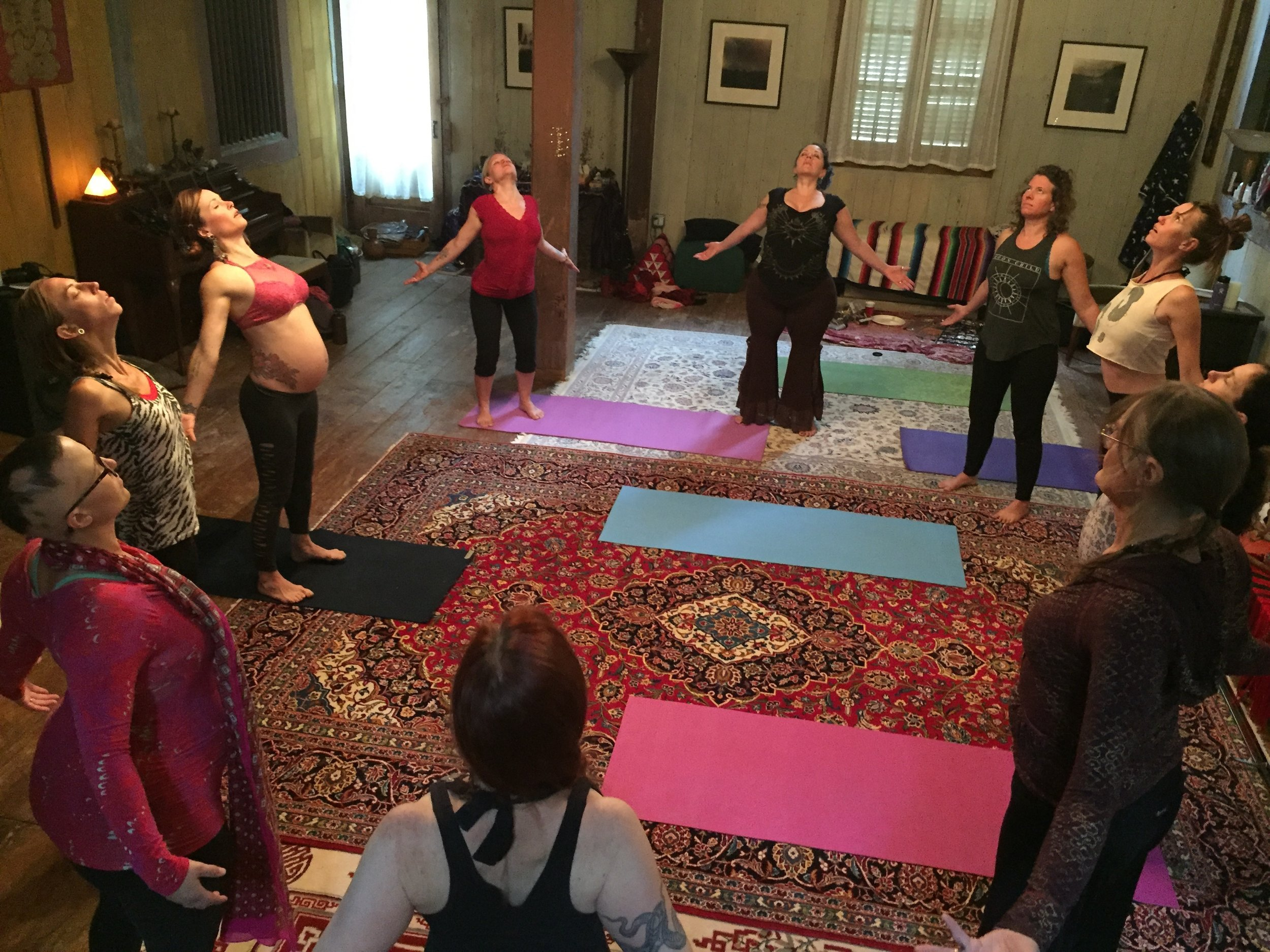 """Fierce Grace"" retreat practice circle"