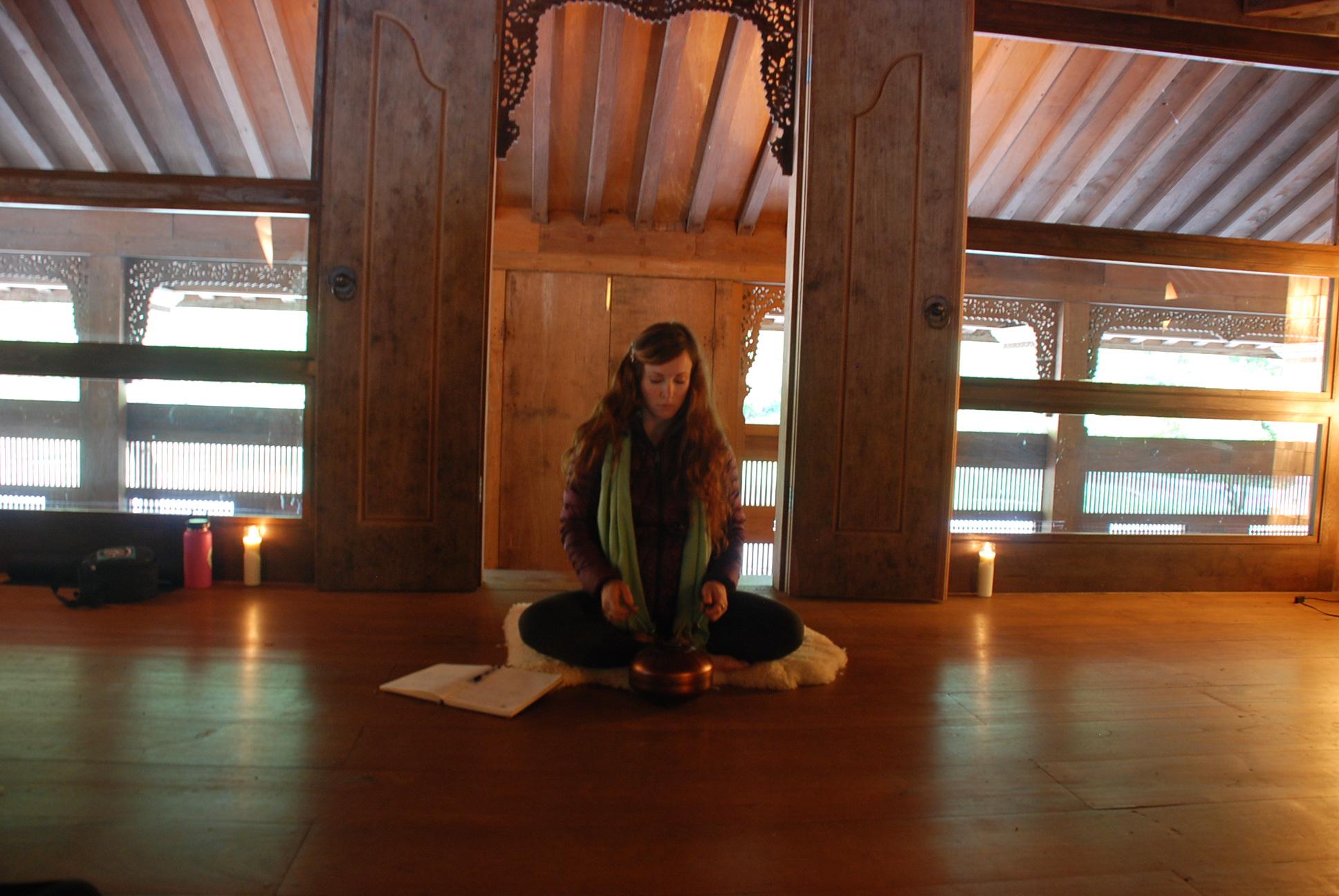 Morning breathwork and meditation practice