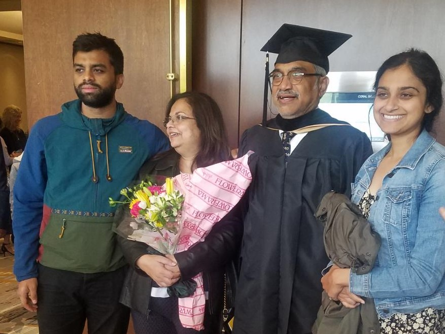 Dr. Ghosh and his family