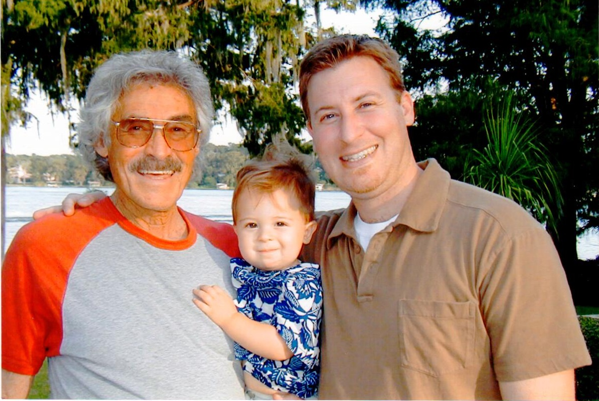 My dad, my son and I — 2002. Look at how much he loved that moment. So did I. Except for my chin(s).