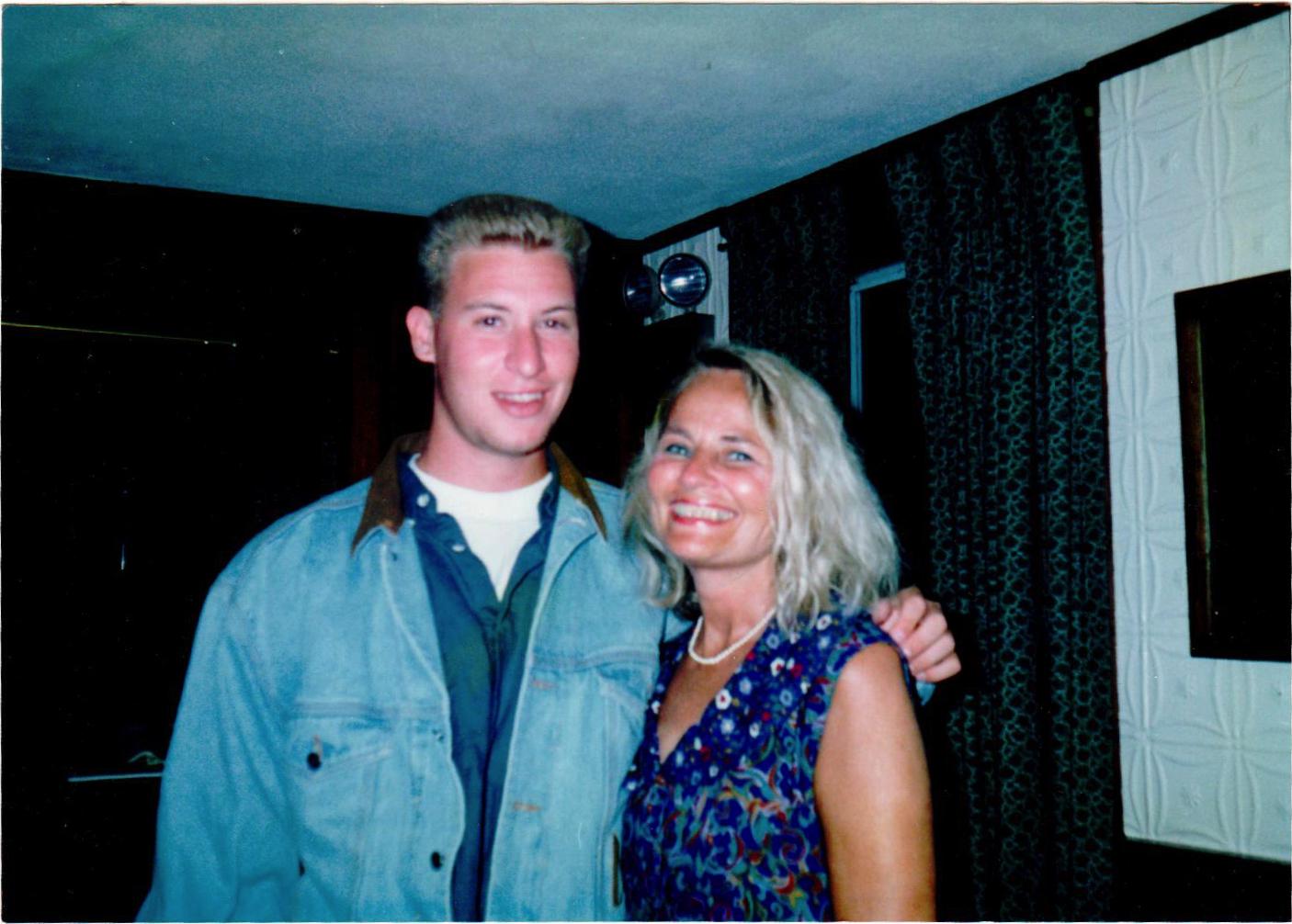 Mom and I (circa 1989).