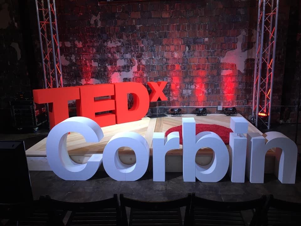 The TEDxCorbin stage
