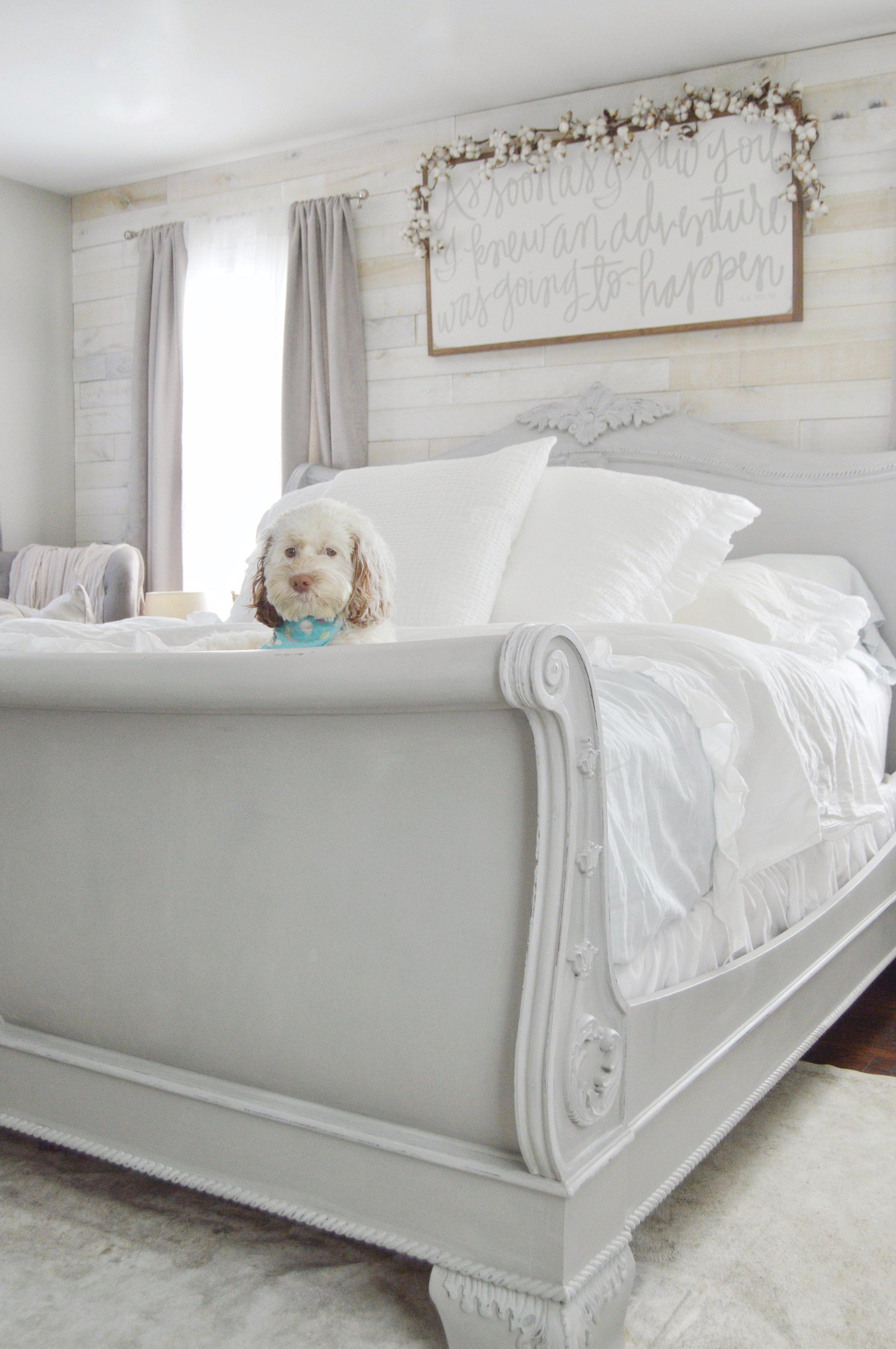 King Sleigh Bed Makeover Using Chalk Paint Jessica Diana Schlichtman