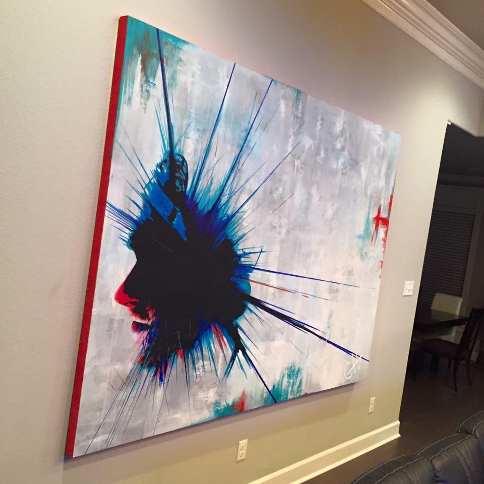 Man In Blue Painting by Casey Lynn Hancock 6