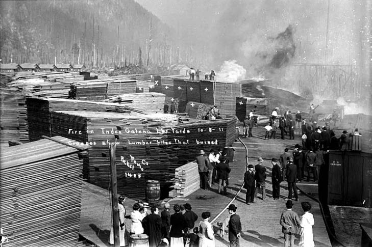 Index Galena Lumber Yard Fire in 1911