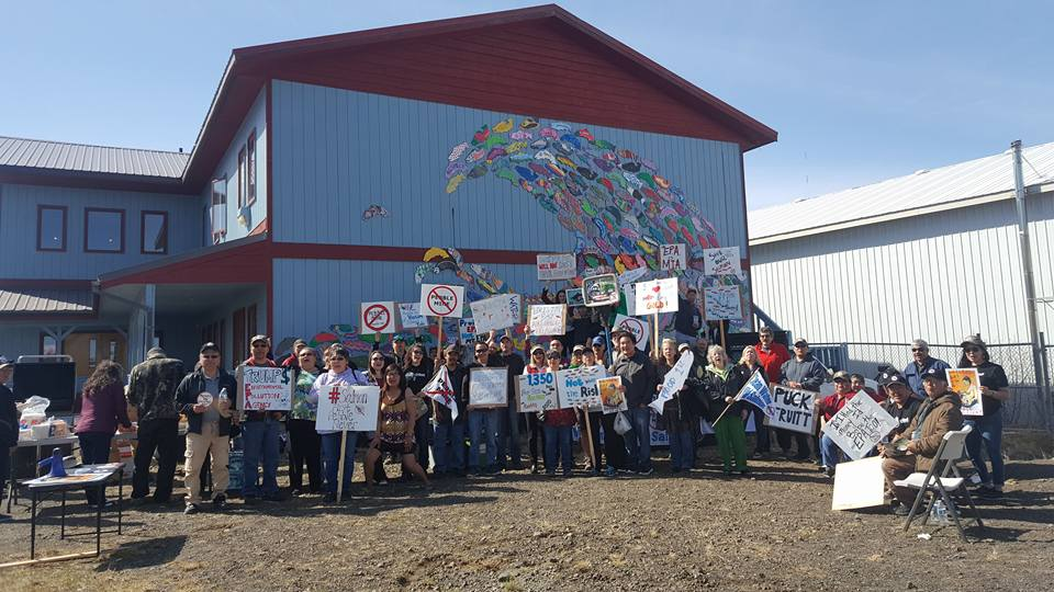 Bristol Bay residents rally at the news that the EPA would consider withdrawing proposed protections for the region in 2017.