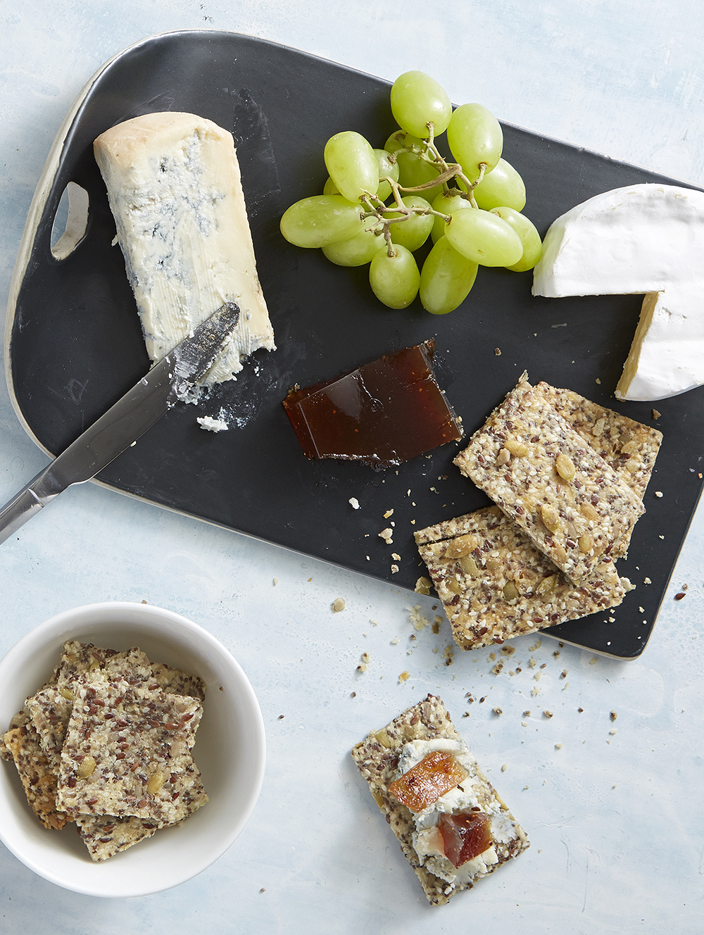 Parmesan Seed & Oat Crackers