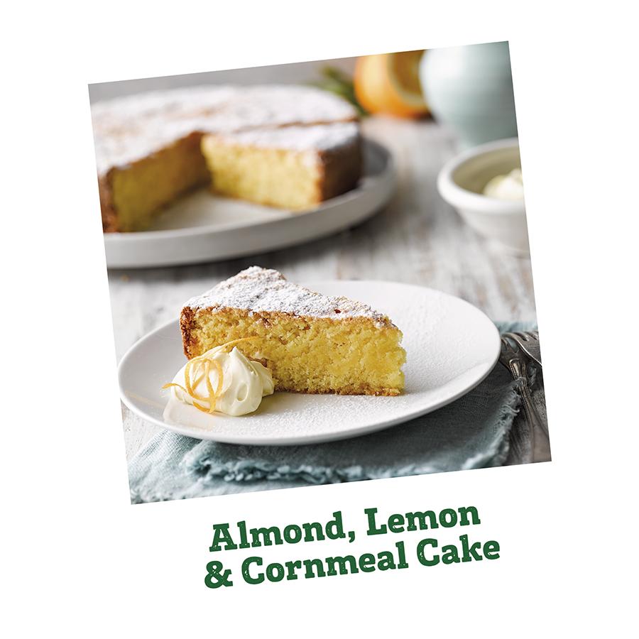 Almond, Lemon & Cornmeal Cake