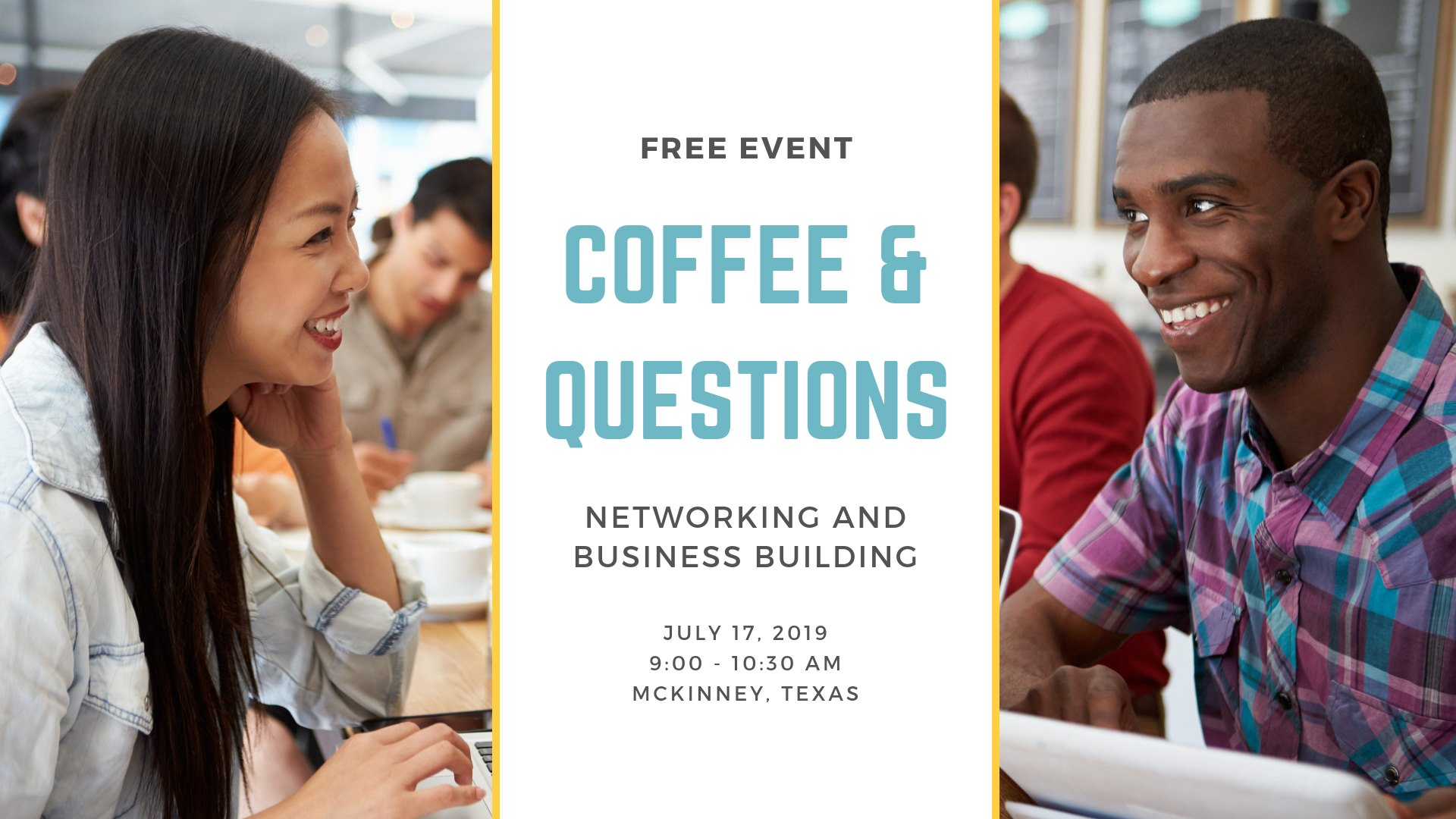 Coffee & Questions July 17 OTB Angie Brumley McKinney TX