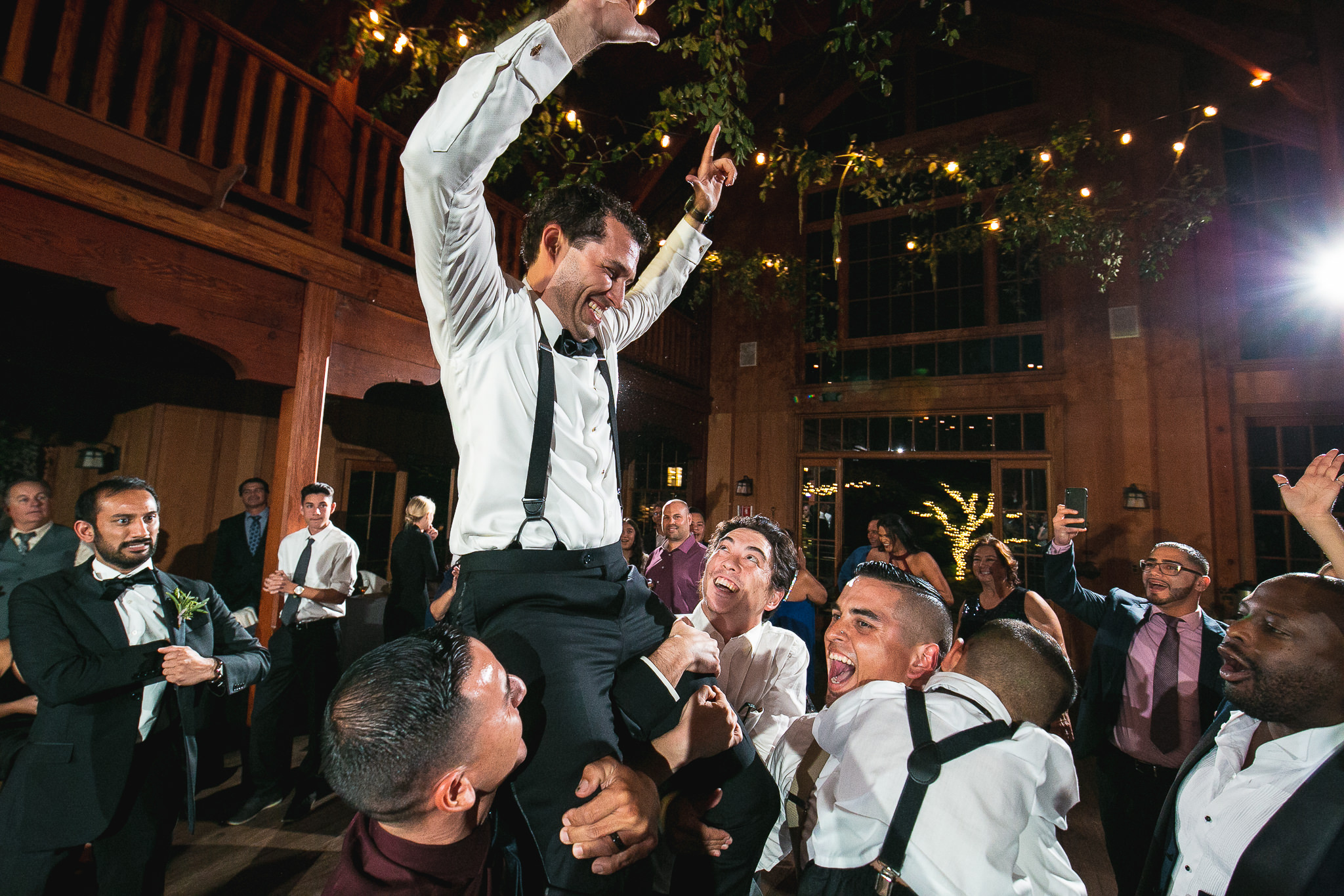 This usually happens to the groom towards the end of the night just before last call :D