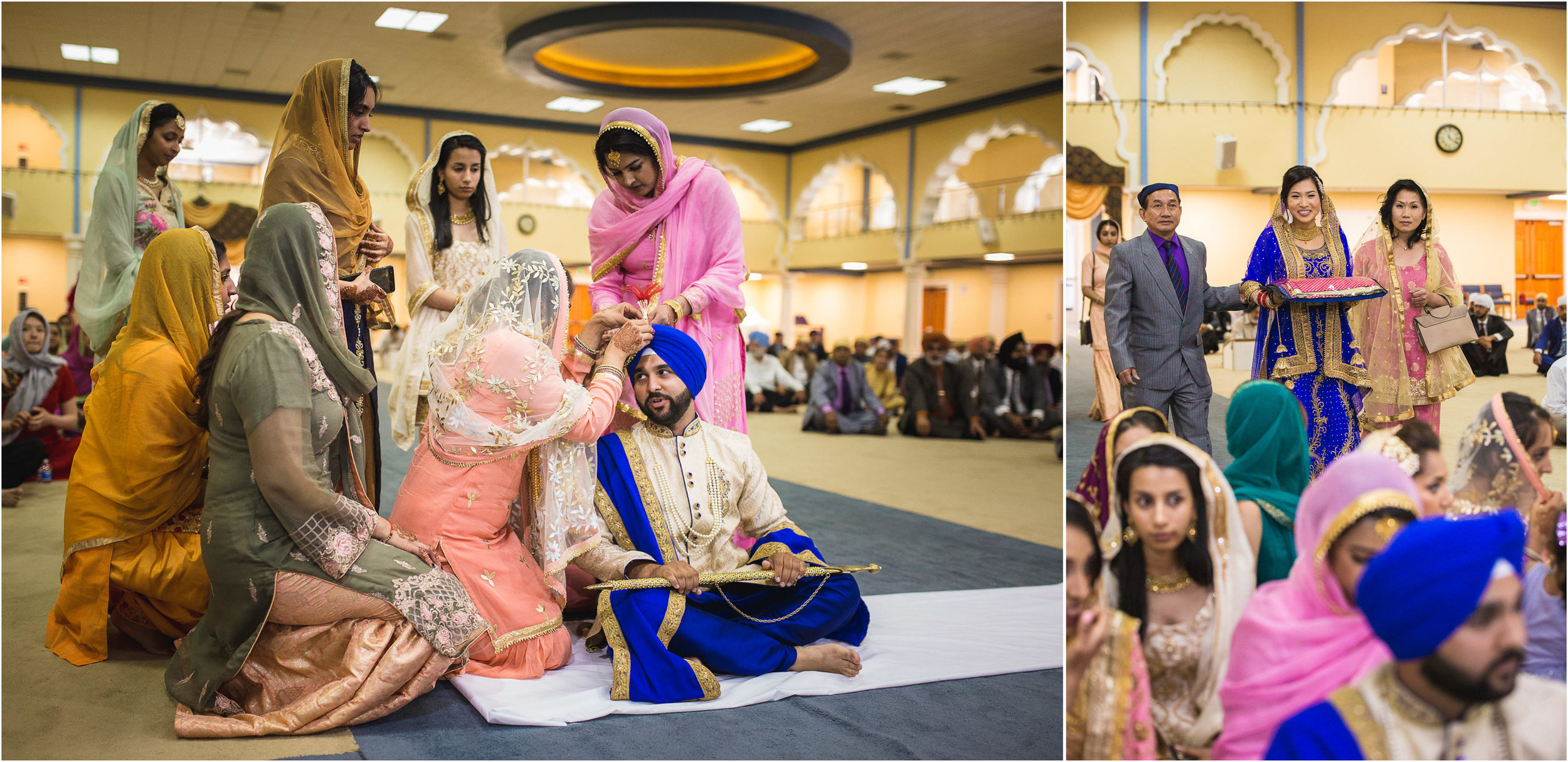 Amanda and Baldeep finally get to see each other at the Anand Karaj, which is the actual union ceremony between the two.