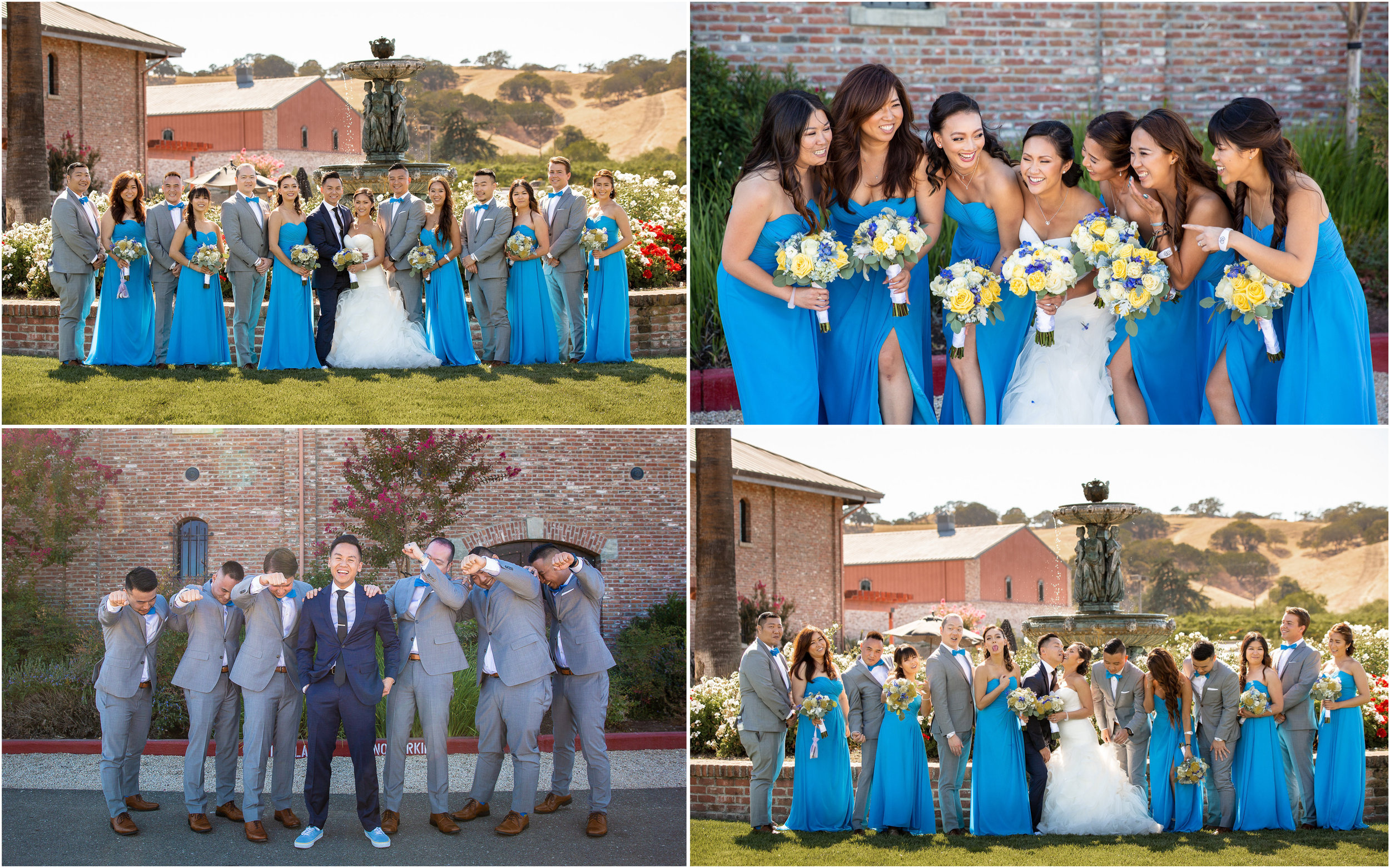 """We started """"formal"""" portraits at Palm Event Center, Pleasanton, but that doesn't mean the fun had stopped."""