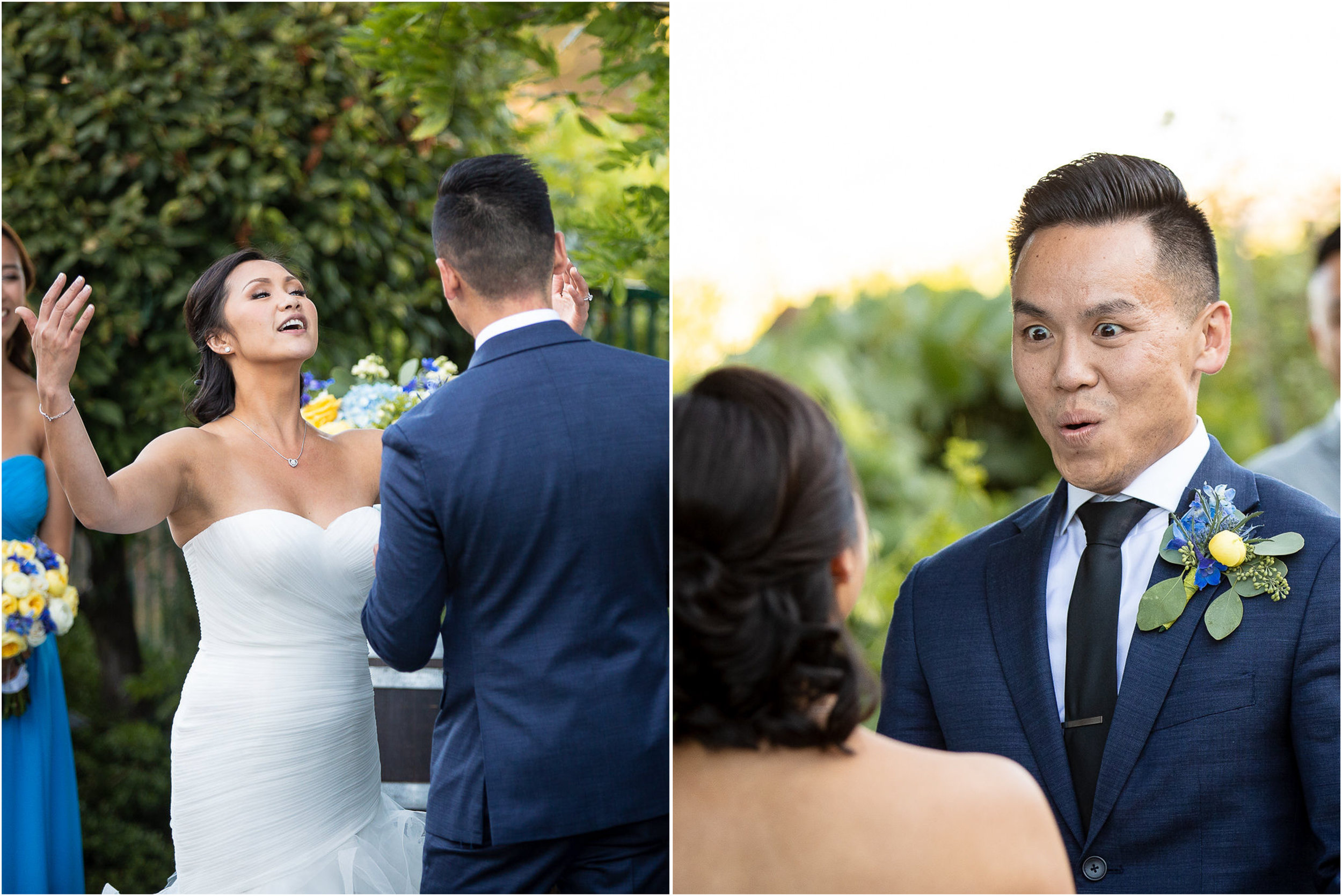 Their amazing vows for each other got amazing reactions.